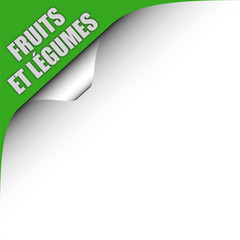 Seitenecke grün links FRUITS ET LEGIMES