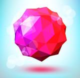 3d polygonal shape poster