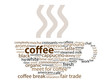 COFFEE Tag Cloud (break cup roast cappuccino latte ground)