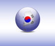 Vector illustration of South Korea map a in the globe