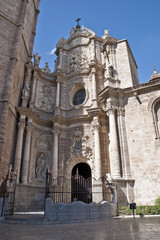 The Main Door (Puerta de los Hierros) of Valencia Cathedral
