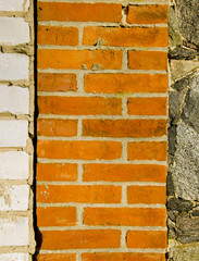 Architecture white red brick stone wall background