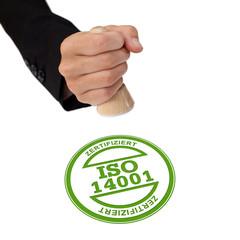 ISO 14001 Stempel Hand