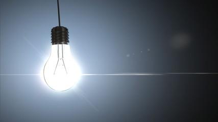 Light bulb, 3d animation. Loopable frames (547-705)