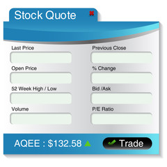 Stock Market Quote Menu