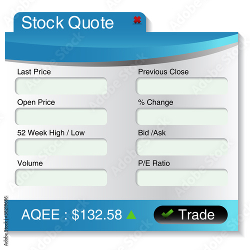 Stock Market Quote Menu