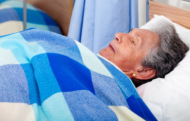 Elder woman at the hospital