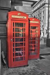 Cabines téléphoniques - Londres (UK) © Delphotostock