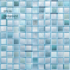grunge light mosaic background in aqua color