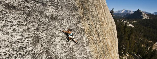 Knob climbing in Tuolumne Meadows.