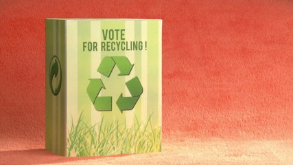 Vote for recycle. Ecology campaign Green concept.