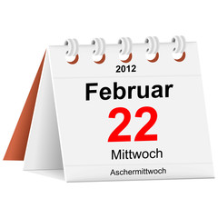 Kalender - 22.02.2012 - Aschermittwoch