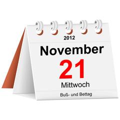 Kalender - 21.11.2012 - Buß- und Bettag