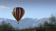 mongolfiera in volo