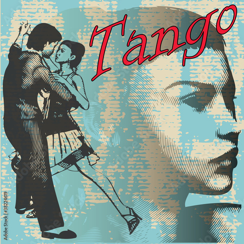 Tango Dance Background - 38224619