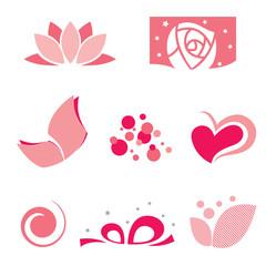 set of rose symbol