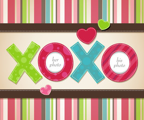 Vector Design for Valentine's Day with XOXO