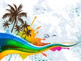Fototapete Strand - Coconut palm - Strand