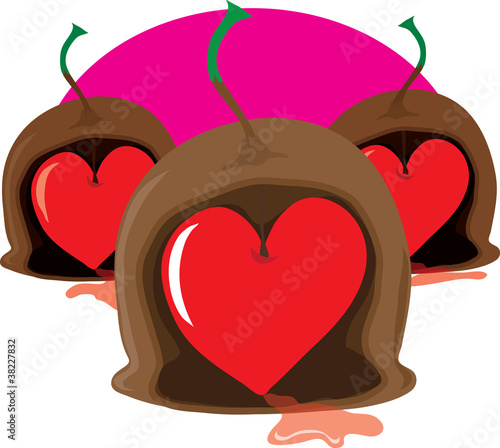 Chocolate Cherry Heart