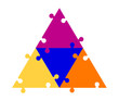 4 Part Puzzle Triangle