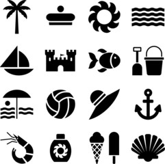 summer/beach pictograms