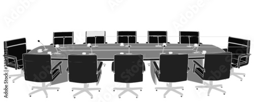 Meeting Conference Table Vector 03