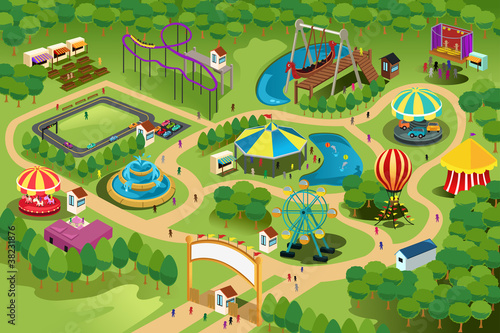 Amusement park map - 38231876