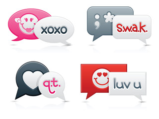 Smooth Love Chat Bubbles