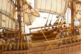 gros plan maquette voilier