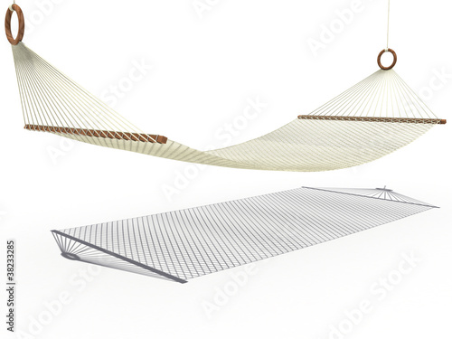 Simple hammock on a white background №1