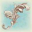 flower vintage pattern engraving scroll motif
