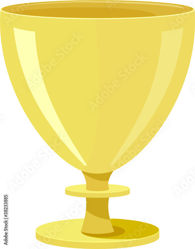 Vector illustration of a golden bowl