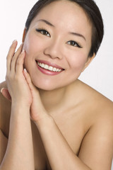 Portrait of Young and Beautiful asian woman.