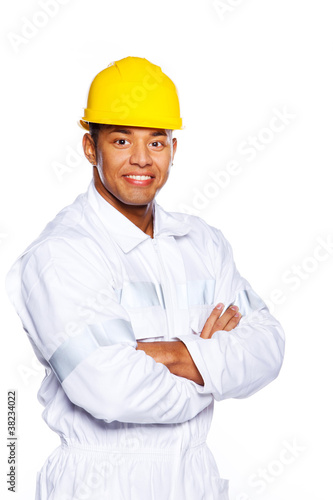 Image of young attractive worker
