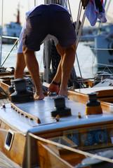 travail sur bateau