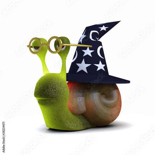 3d Snail is a wonky wizards hat