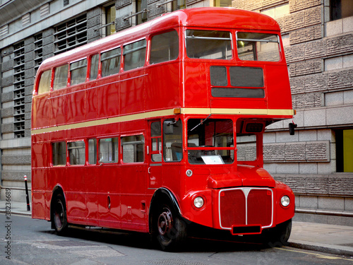 London bus, traditional red Poster