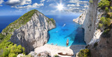 Fototapety Navagio Beach with shipwreck in Zakynthos, Greece