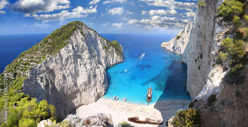 Fototapeta Navagio Beach with shipwreck in Zakynthos, Greece