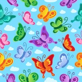 Butterfly seamless background 2