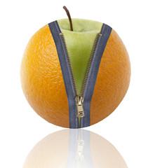 arancia con cerniera