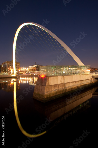 Gateshead Millenium Bridge at Night