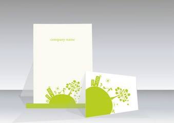 nice illustration featuring ecology business card template