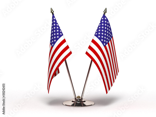 Miniature Flag of USA (Isolated)