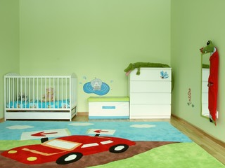 Baby's colourful bedroom