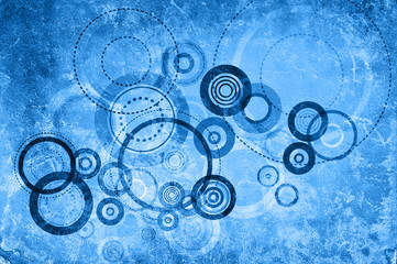 blue circle art
