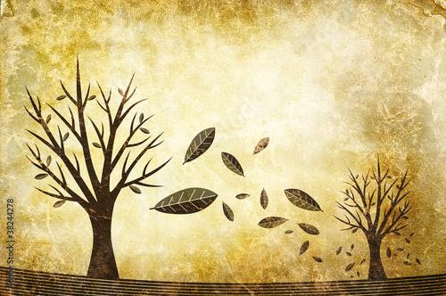 falling leaves illustration