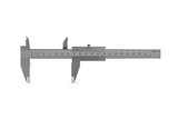 metal calipers standing horizontally. 3D rendering