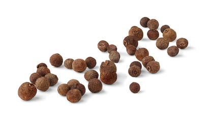 Allspice fruits isolated on white