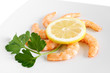 lemon and shrimps closeup - gamberi e limone